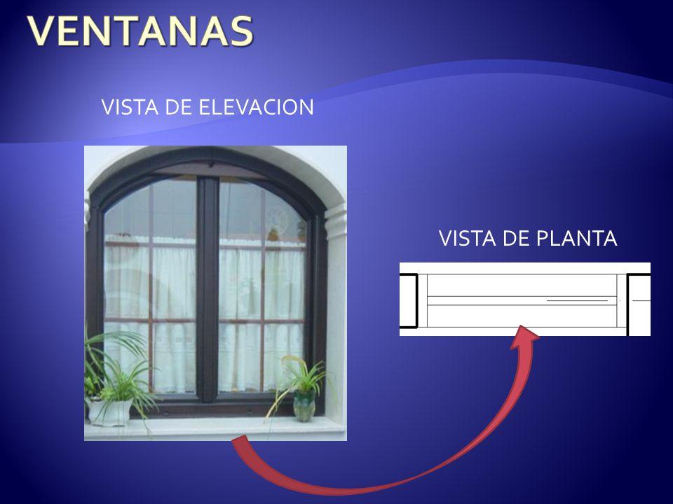 VISTA DE PLANTA VISTA DE ELEVACION