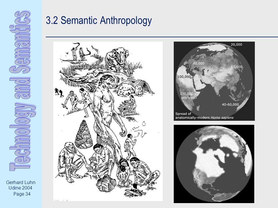 Page 34 Gerhard Luhn Udine 2004 3.2 Semantic Anthropology