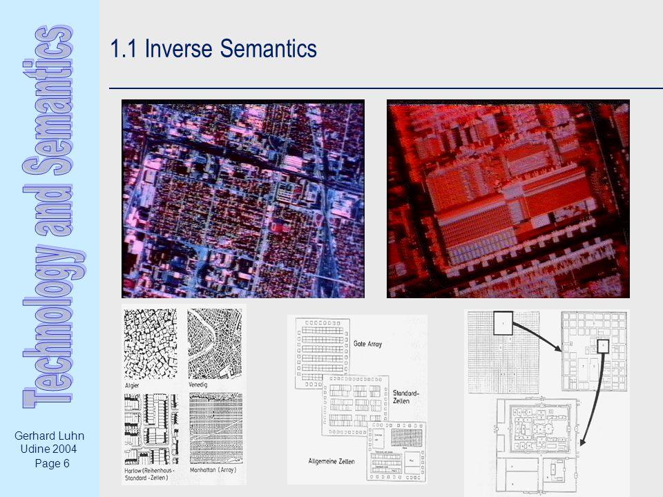 Page 6 Gerhard Luhn Udine 2004 1.1 Inverse Semantics