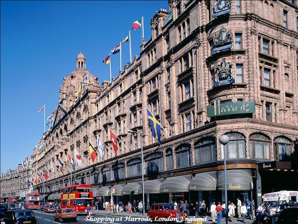 Shopping at Harrods, London, England