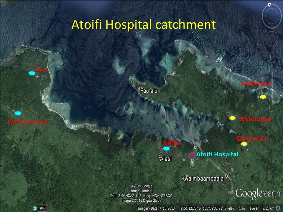 Gethsemane Alasi Sifilo Gounsu'u Ambitona Atoifi Hospital catchment Atoifi Hospital Wyfolonga
