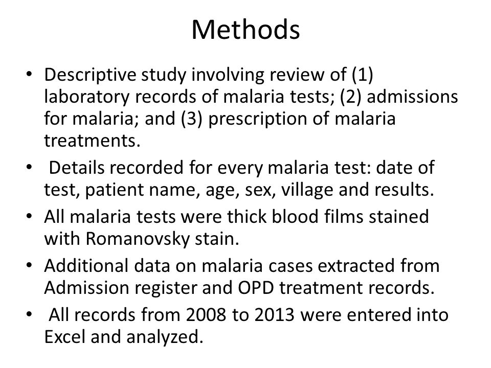New questions arise  If malaria causes only 6% of fever, what are the causes of the other 94%.