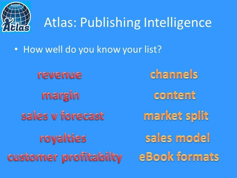 Atlas: Publishing Intelligence Spreadsheet Spectacular!
