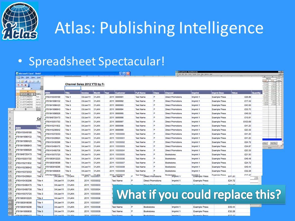 Atlas: Publishing Intelligence Spreadsheet Spectacular!