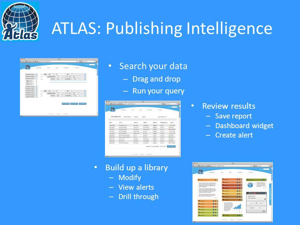Atlas: Publishing Intelligence A few notable success stories in publishing A few notable successes elsewhere too