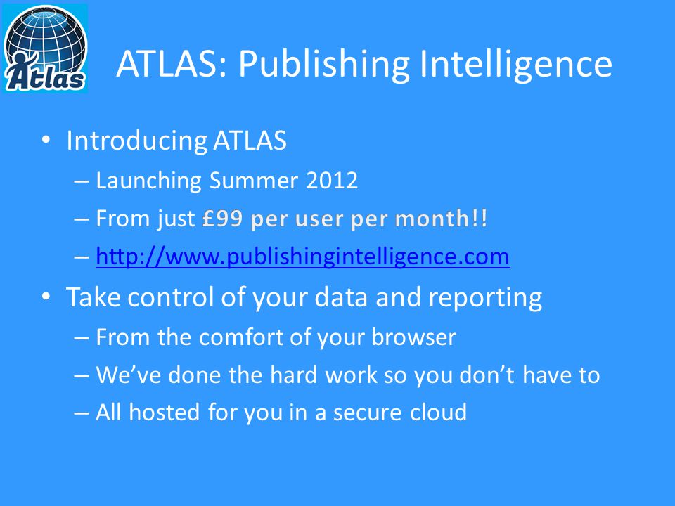 ATLAS: Publishing Intelligence