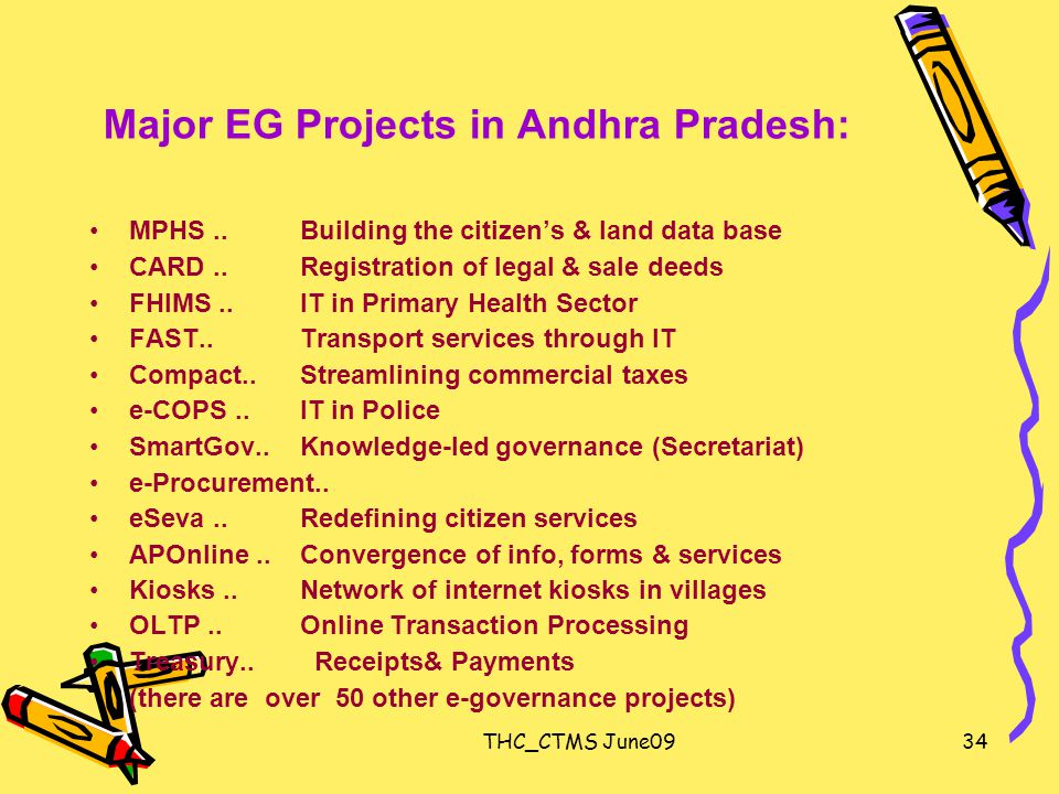 THC_CTMS June0934 Major EG Projects in Andhra Pradesh: MPHS..