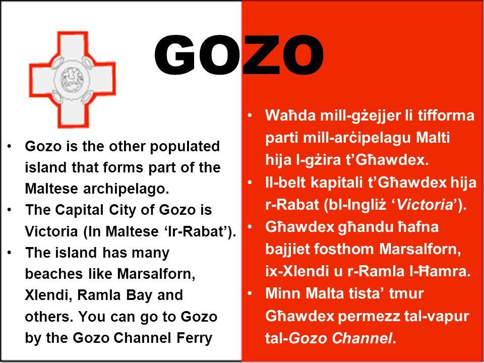 GOZO Waħda mill-gżejjer li tifforma parti mill-arċipelagu Malti hija l-gżira t'Għawdex.