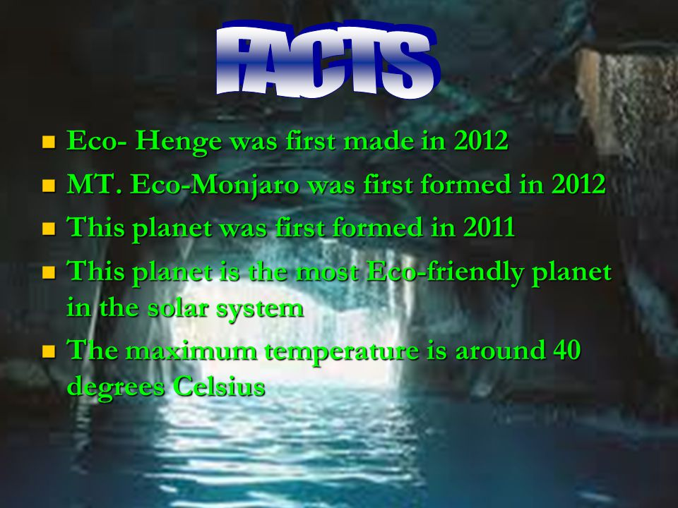Eco- Henge was first made in 2012 Eco- Henge was first made in 2012 MT.