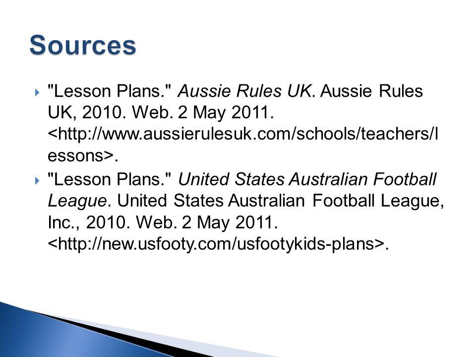  Introduction: Quick guide to Australian Football. ARI.