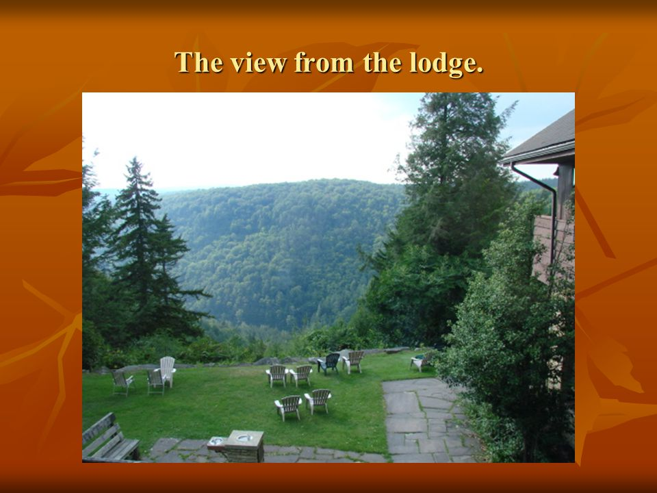 The view from the lodge.