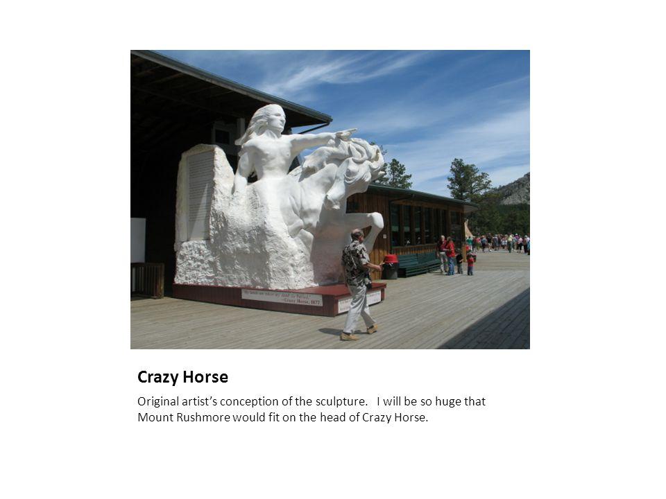 Crazy Horse Original artist's conception of the sculpture.
