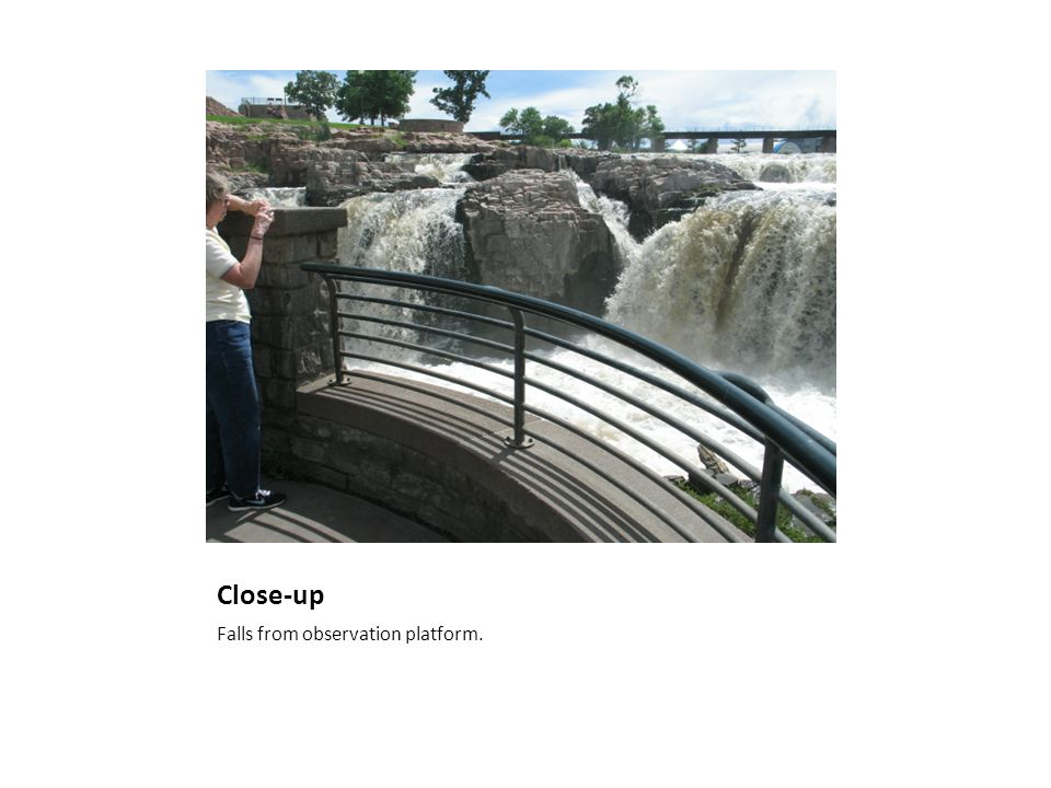 Close-up Falls from observation platform.