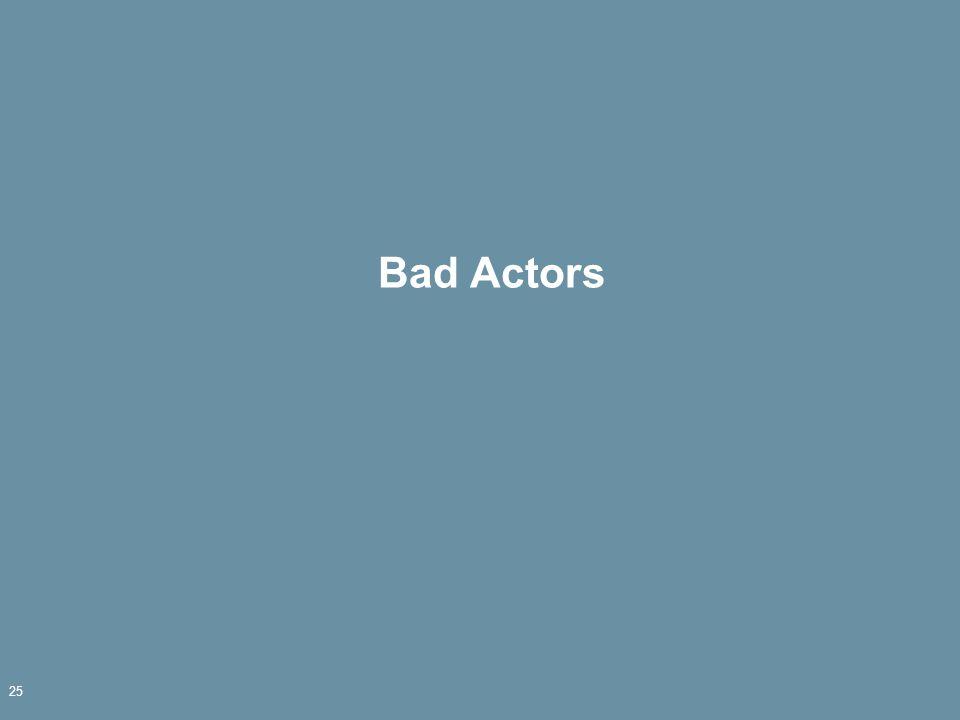 Bad Actors 25