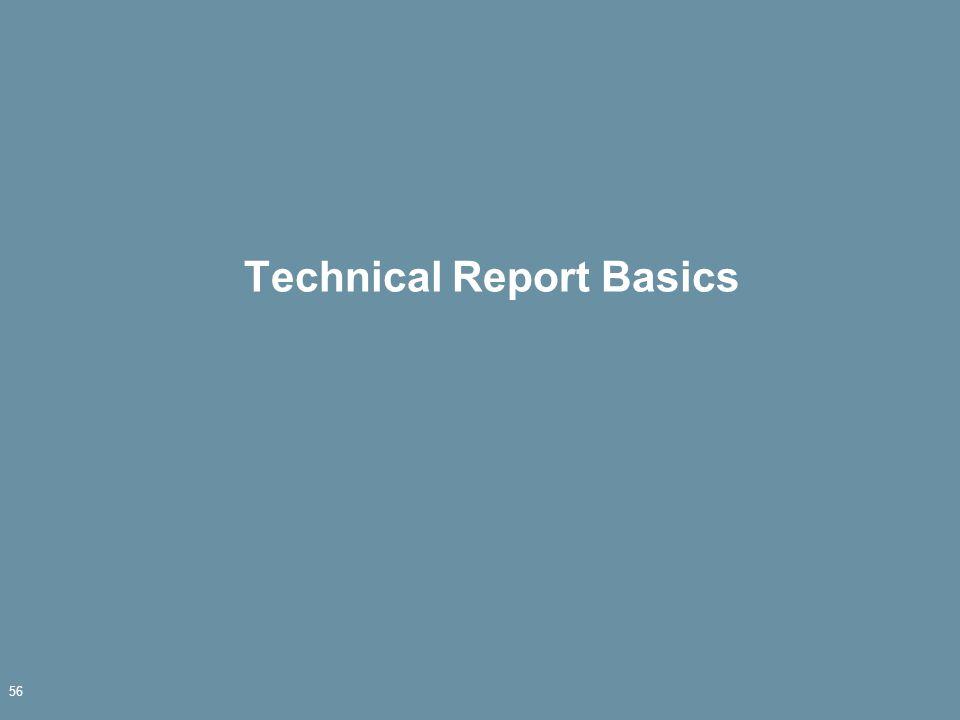 Technical Report Basics 56