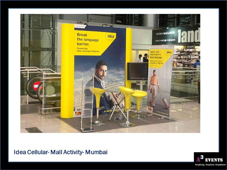 Idea Cellular- Mall Activity- Mumbai