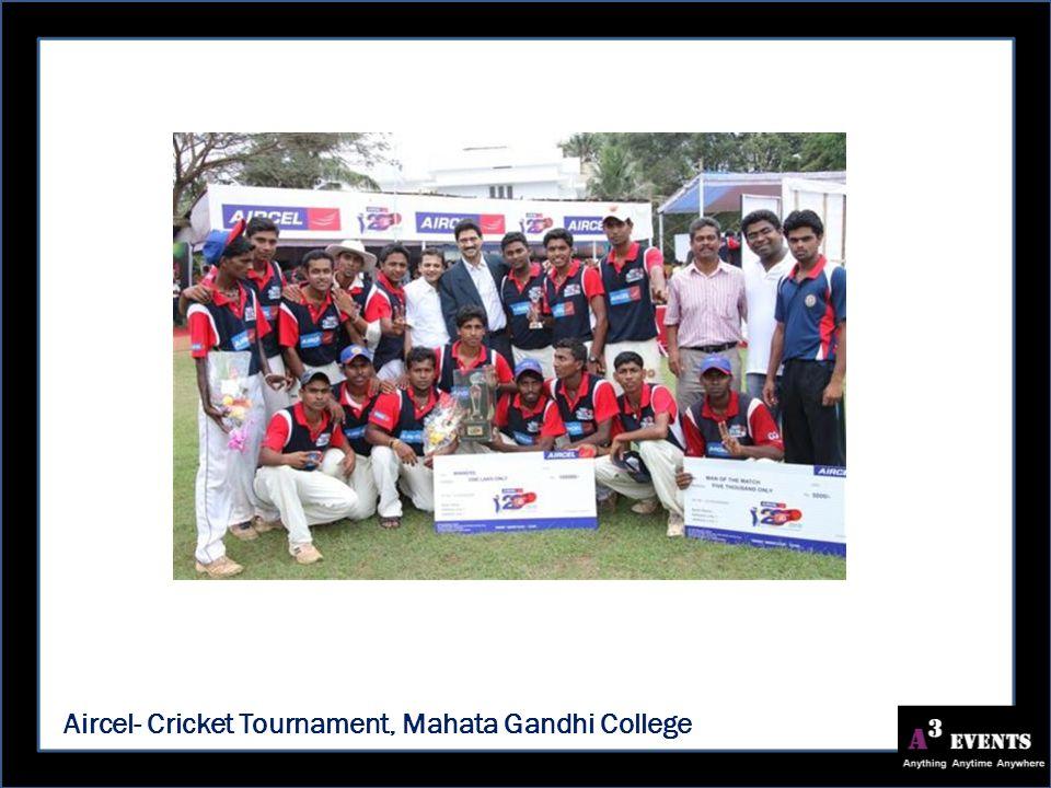 Aircel- Cricket Tournament, Mahata Gandhi College