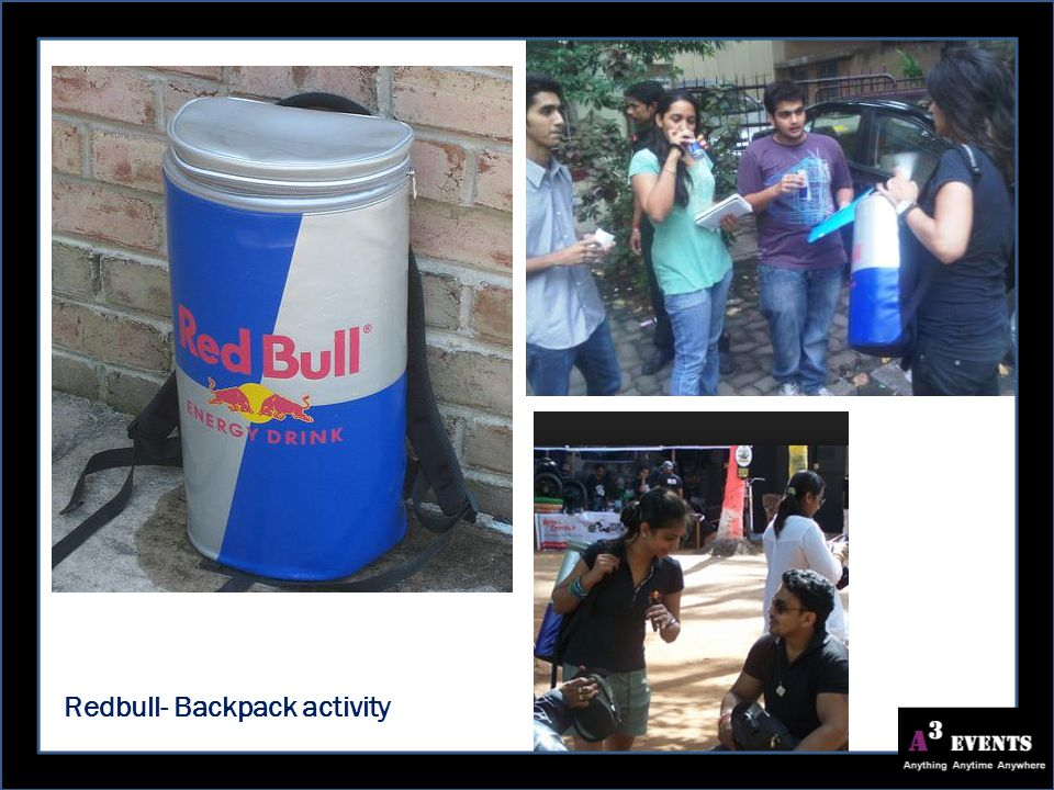 Redbull- Backpack activity