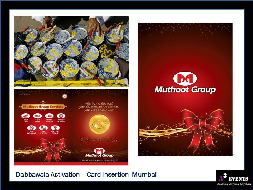 Dabbawala Activation - Card Insertion- Mumbai