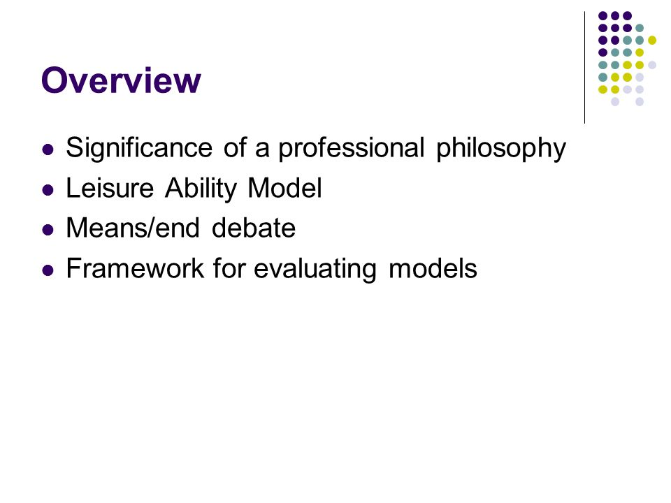 Why is a professional philosophy important.