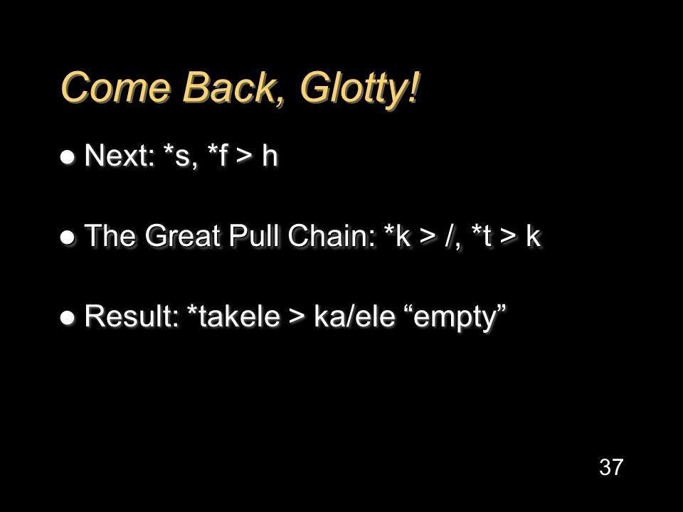 Come Back, Glotty.