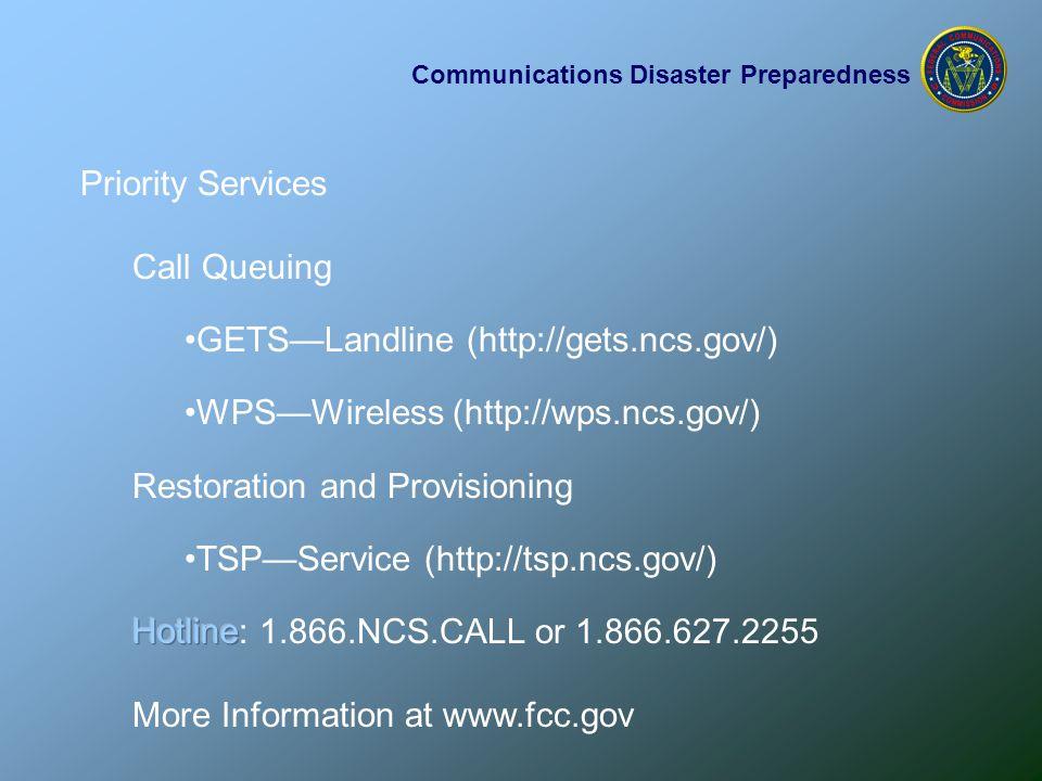 Communications Disaster Preparedness