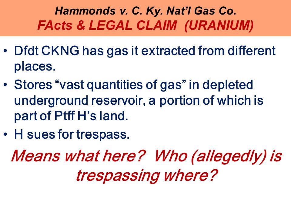 Hammonds v. C. Ky. Nat'l Gas Co.