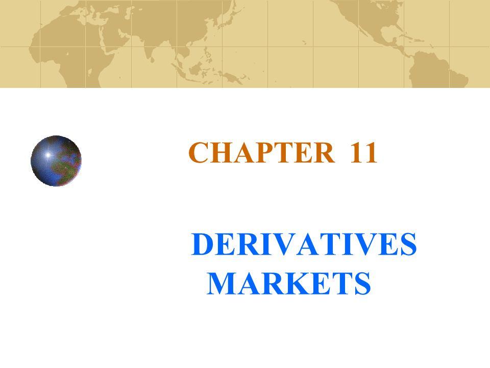 CHAPTER 11 DERIVATIVES MARKETS
