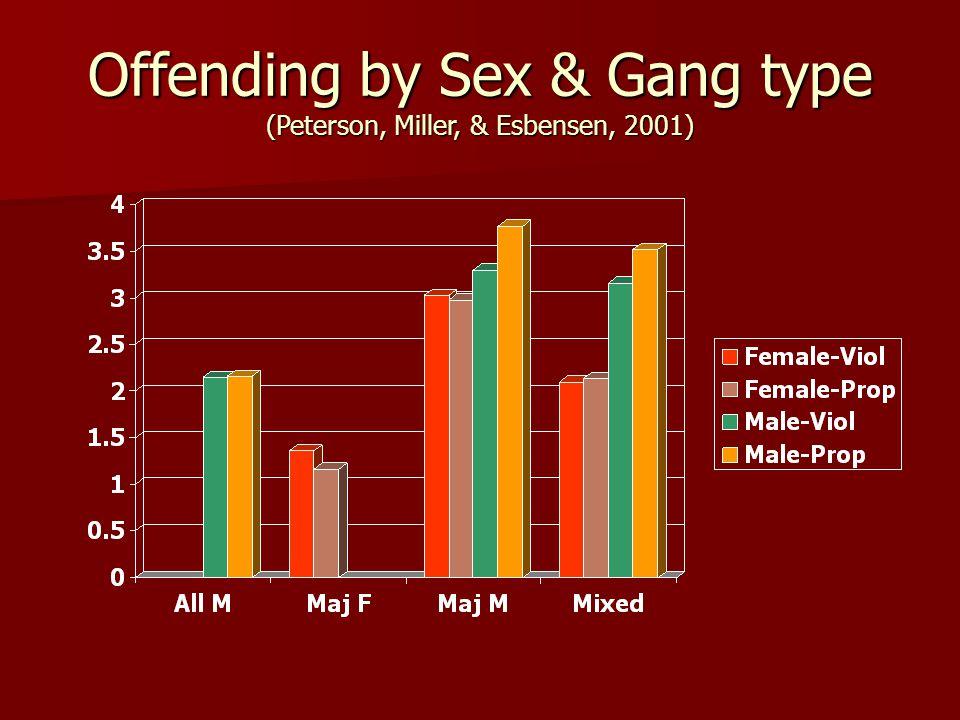 Offending by Sex & Gang type (Peterson, Miller, & Esbensen, 2001)