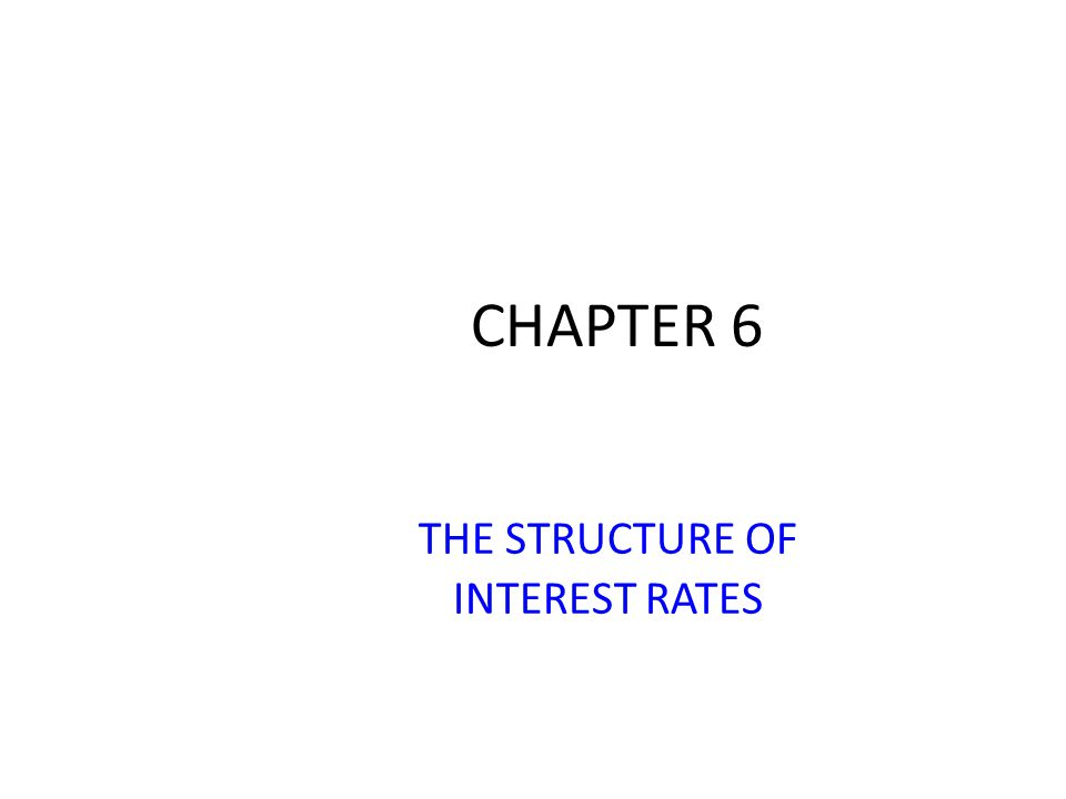 CHAPTER 6 THE STRUCTURE OF INTEREST RATES