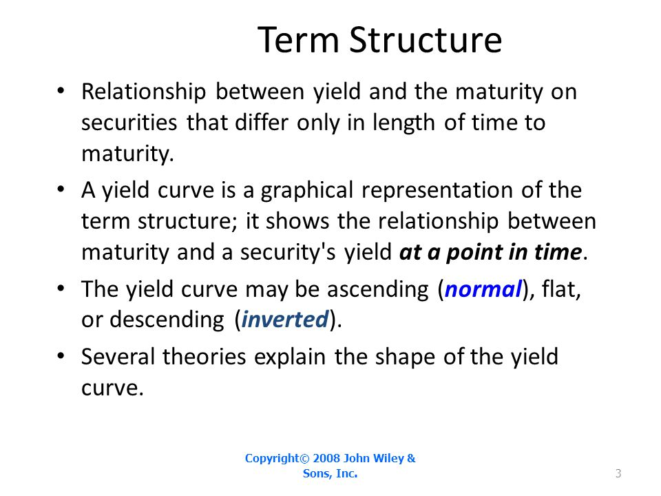 Yield Curves in the 2000s - Exhibit 6.1 Copyright© 2008 John Wiley & Sons, Inc. 4
