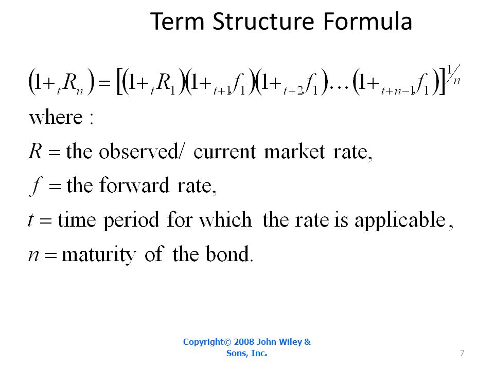 Term Structure Formula Copyright© 2008 John Wiley & Sons, Inc. 7