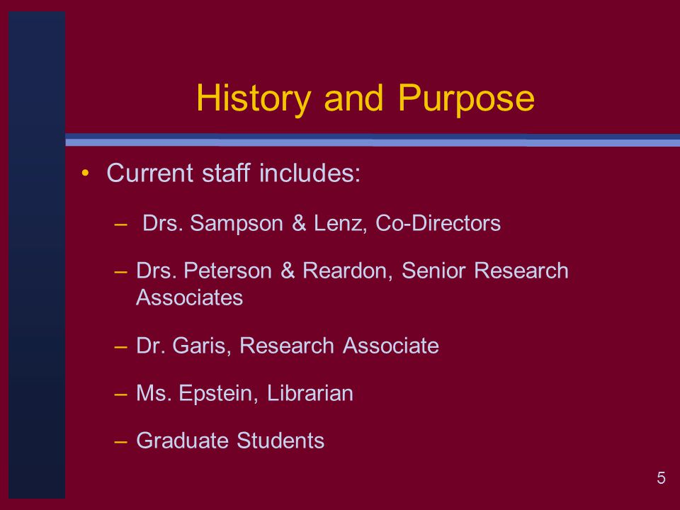 6 History and Purpose CIP Initial Introduction—A Theoretical Shift Sampson, J., Peterson, G., & Reardon, R.