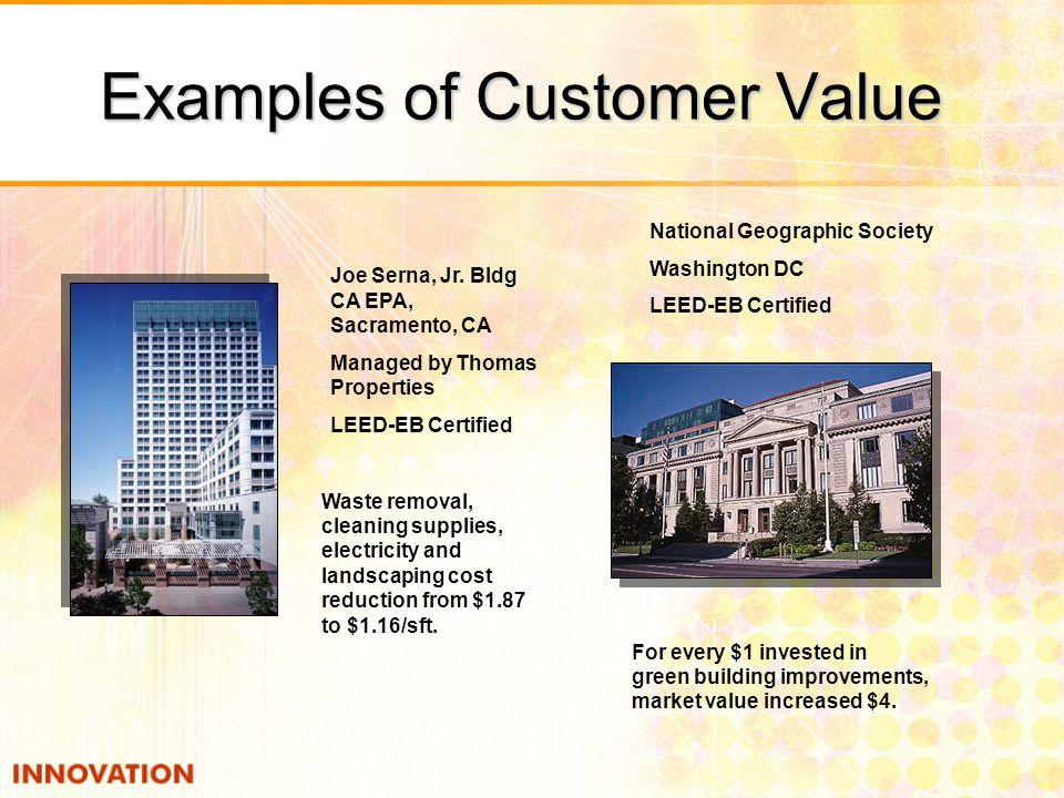 Examples of Customer Value National Geographic Society Washington DC LEED-EB Certified Joe Serna, Jr.