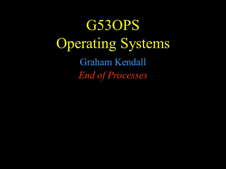 G53OPS Processes Threads - 2 Processes compared to threads If you have a multi-processor machine, then different threads from the same process can run