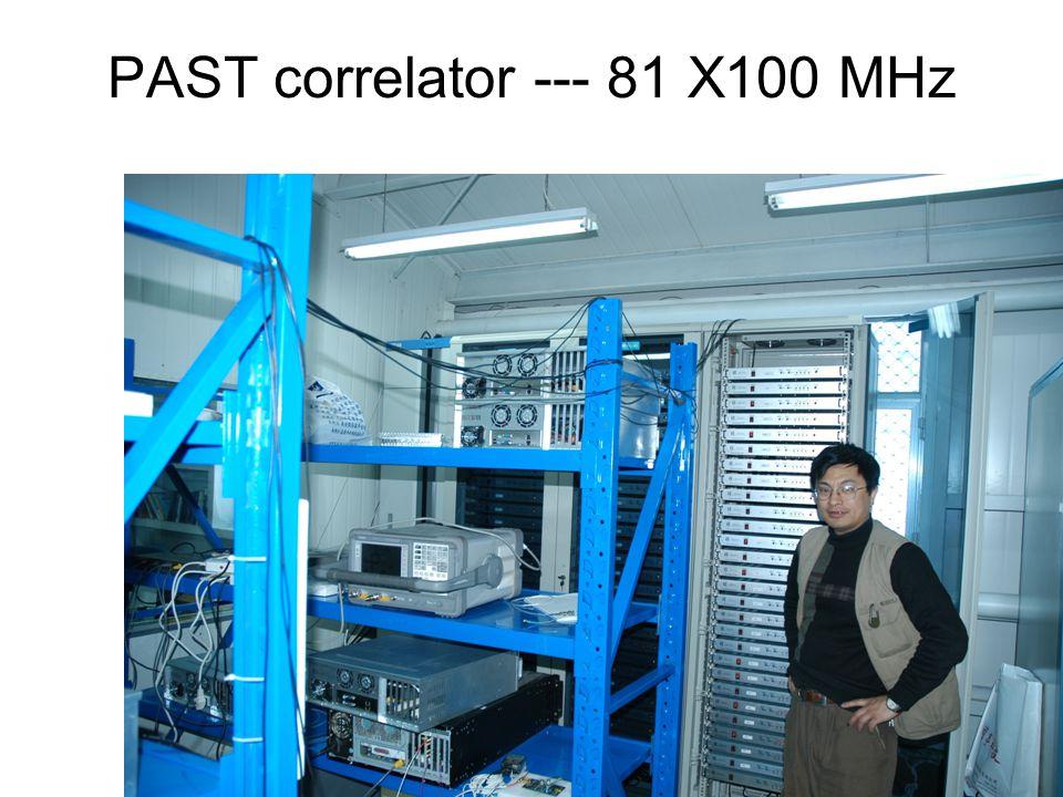 PAST correlator --- 81 X100 MHz