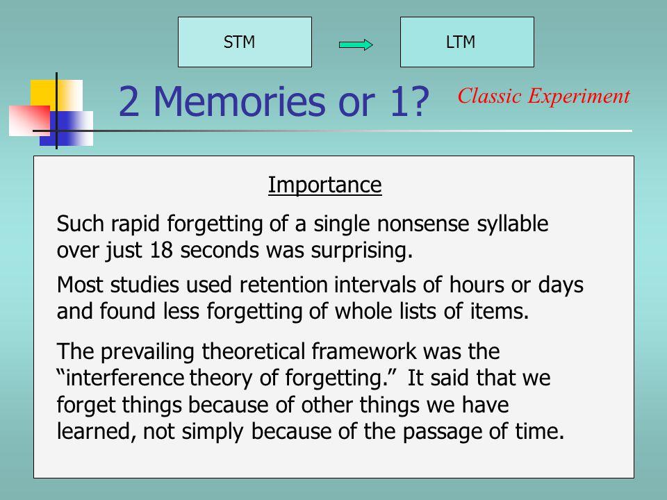 2 Memories or 1.