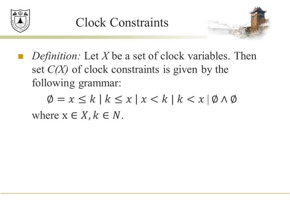 Clock Constraints