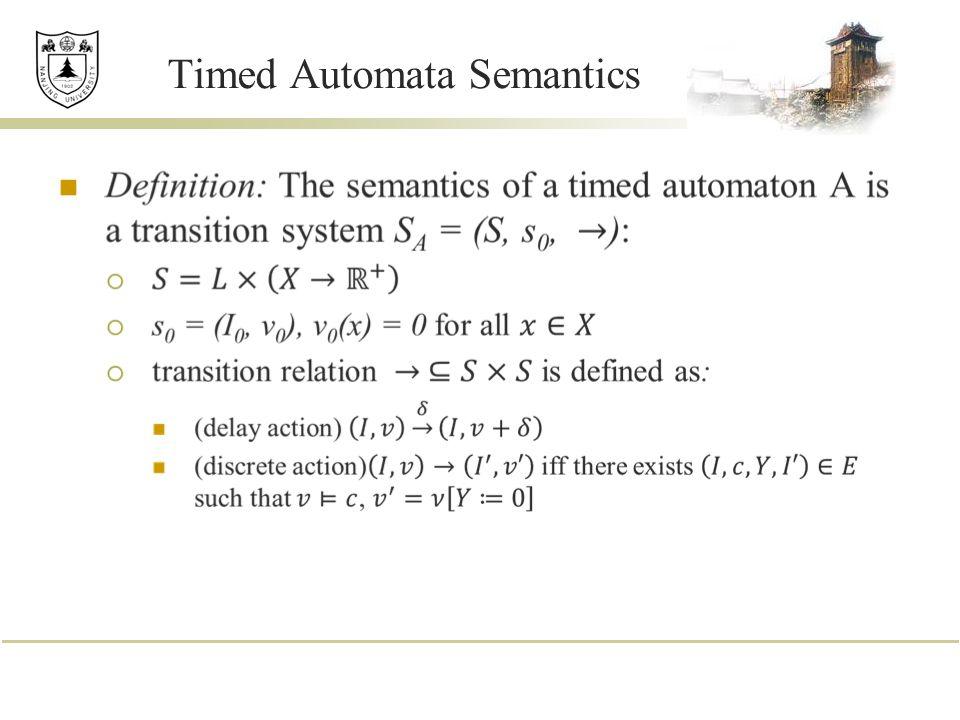 Timed Automata Semantics