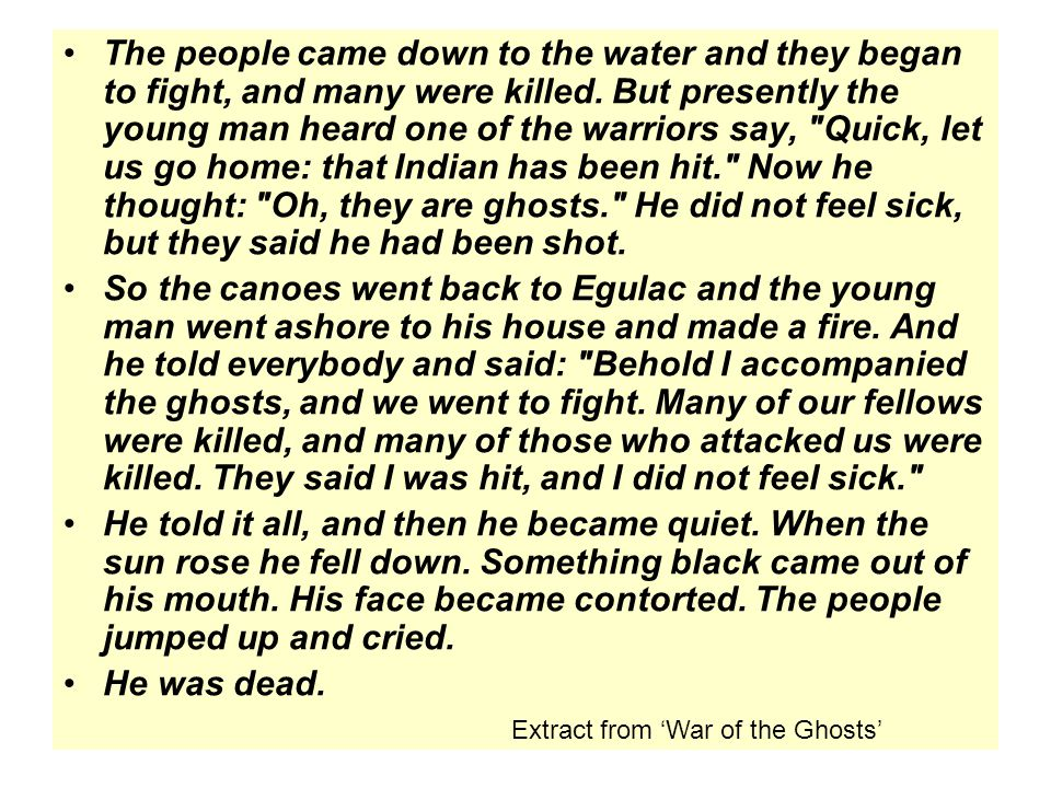 The people came down to the water and they began to fight, and many were killed.