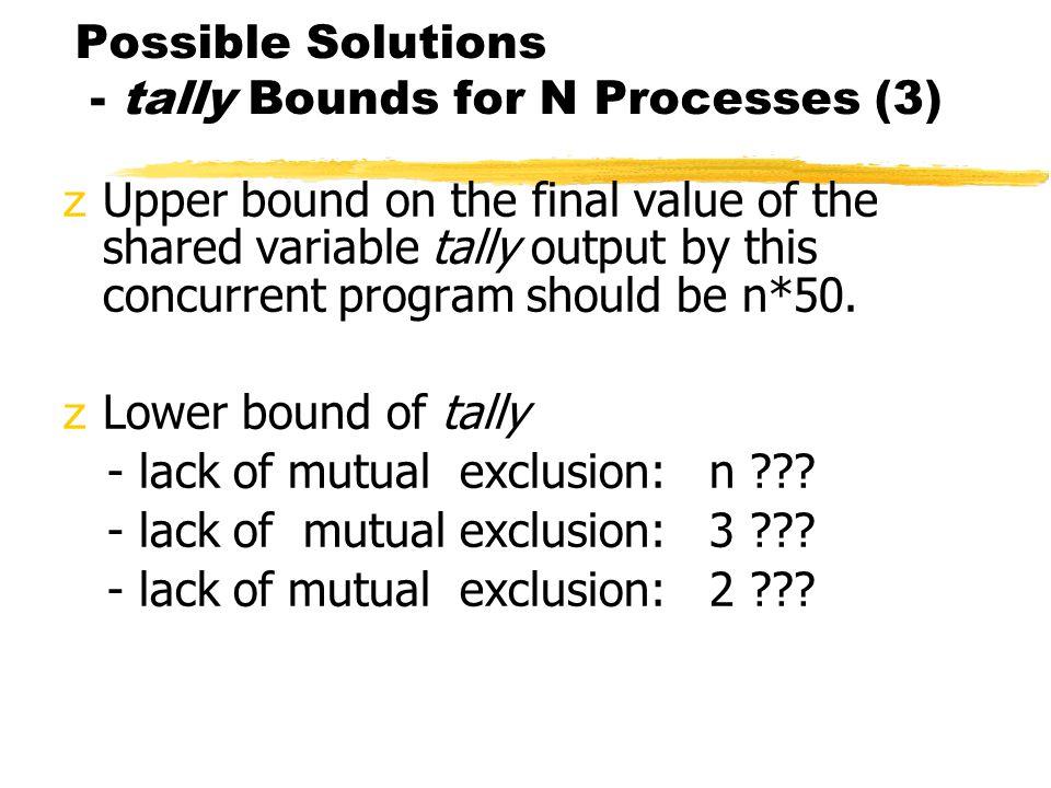 Peterson's Algorithm - N Processes Algorithm (8) var q:array[1..n] of integer; turn: array[1..n-1] of integer;......