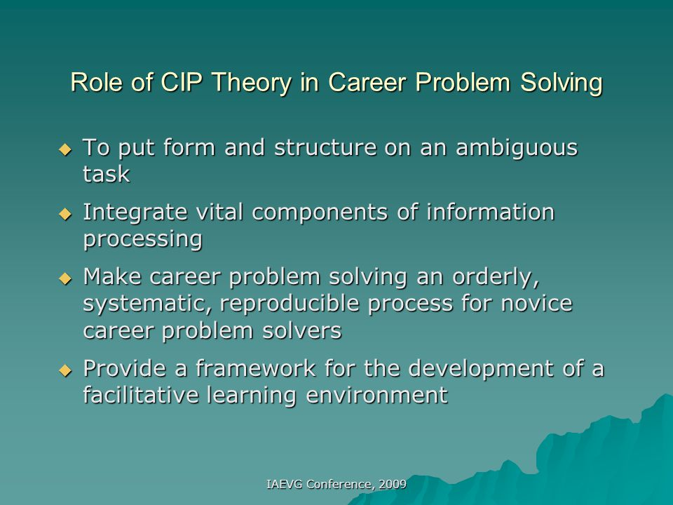 Nature of Career Problems  Complex and ambiguous cues  Interdependent courses of action  Uncertainty of the outcome  Solutions present new problems