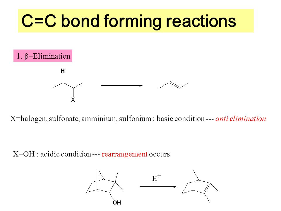 C=C bond forming reactions 1.