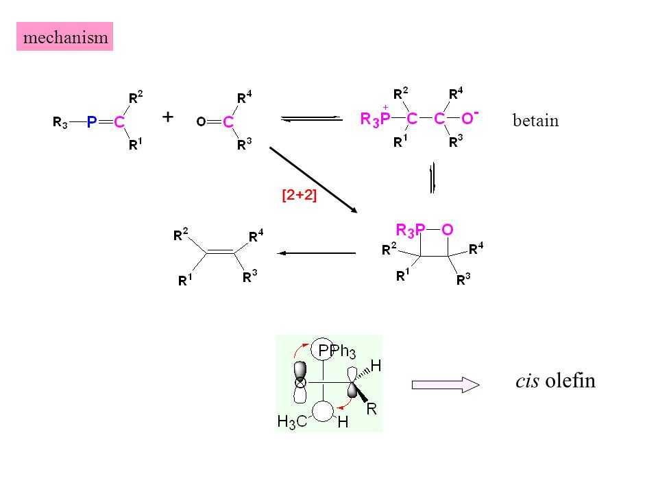 mechanism + betain [2+2] cis olefin