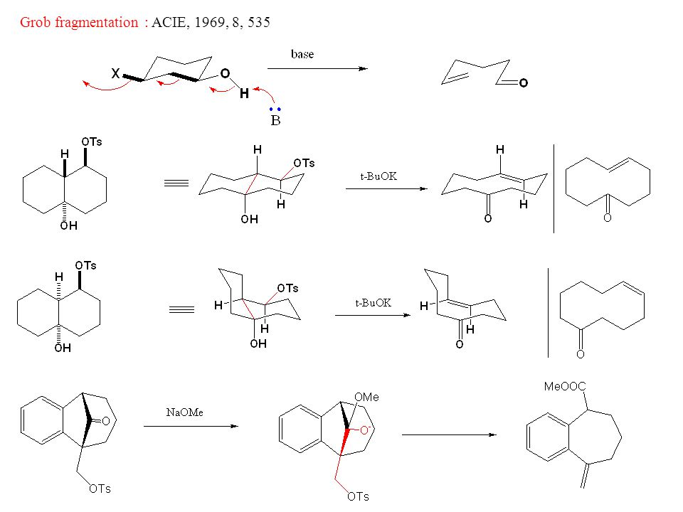 Grob fragmentation : ACIE, 1969, 8, 535