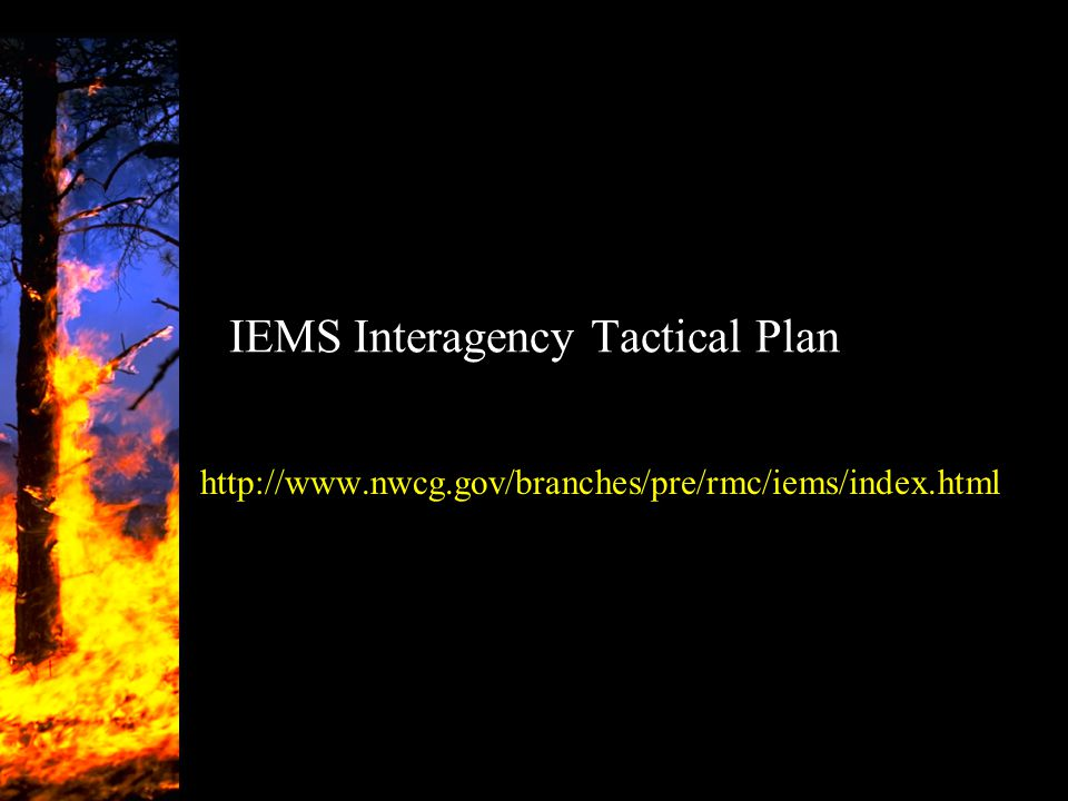 IEMS Interagency Tactical Plan http://www.nwcg.gov/branches/pre/rmc/iems/index.html