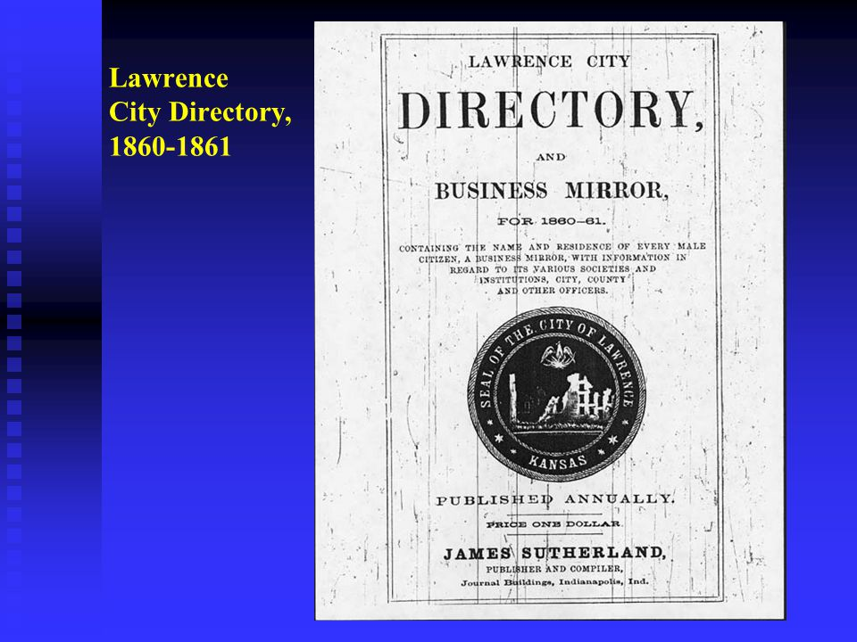 Lawrence City Directory, 1860-1861