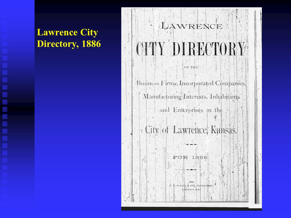 Lawrence City Directory, 1886