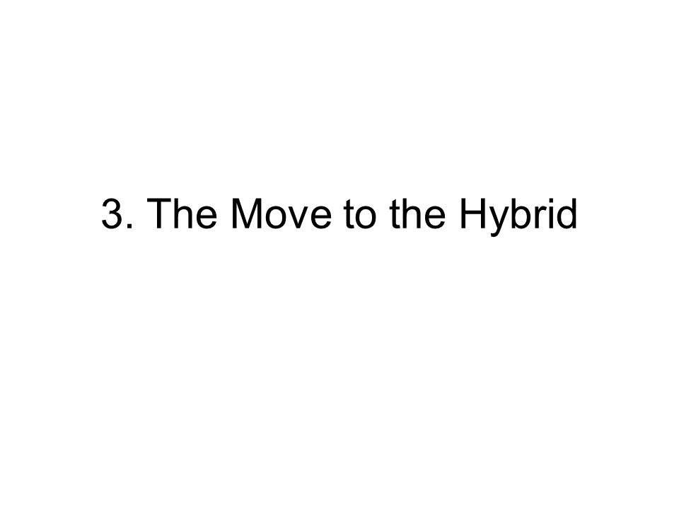 3. The Move to the Hybrid