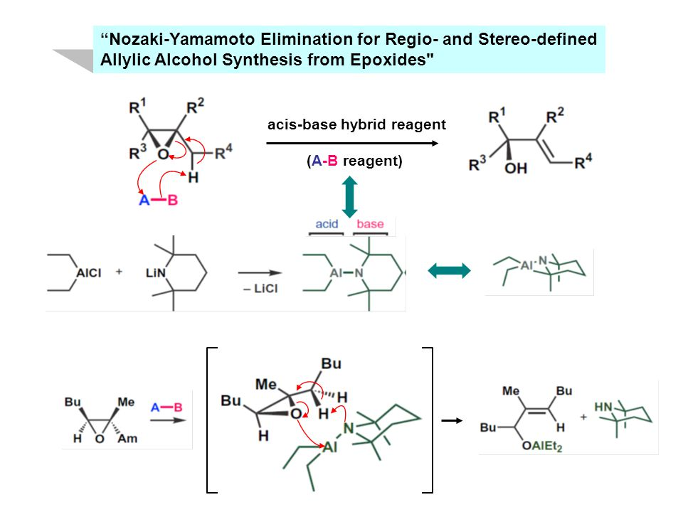 Nozaki-Yamamoto Elimination for Regio- and Stereo-defined Allylic Alcohol Synthesis from Epoxides acis-base hybrid reagent (A-B reagent)